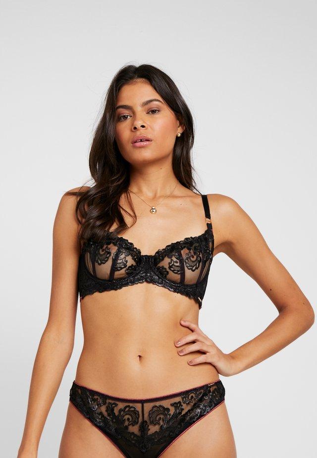 MARA BRA - Underwired bra - black/cordovan
