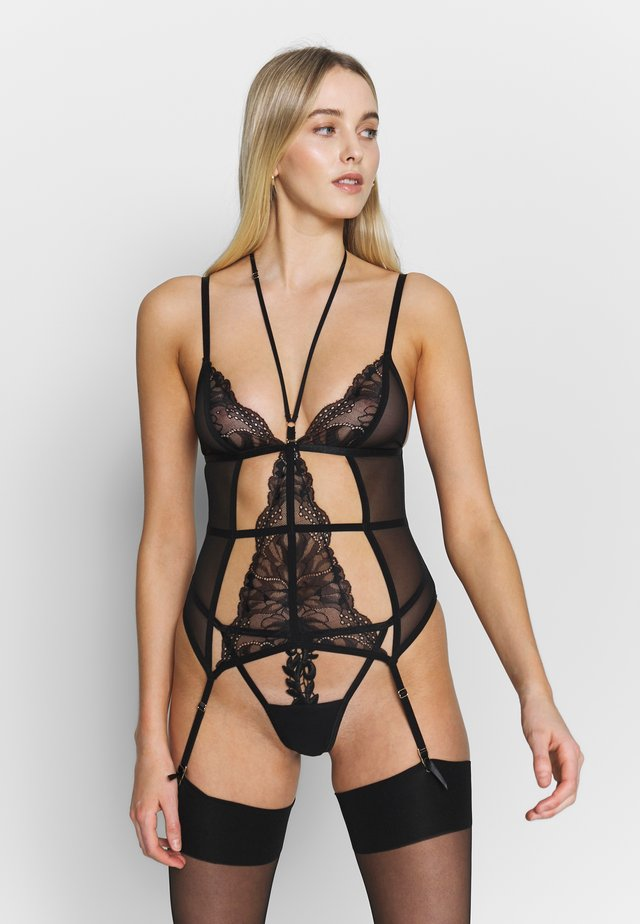ANASTASIA SOFT BASQUE - Korsetti - black