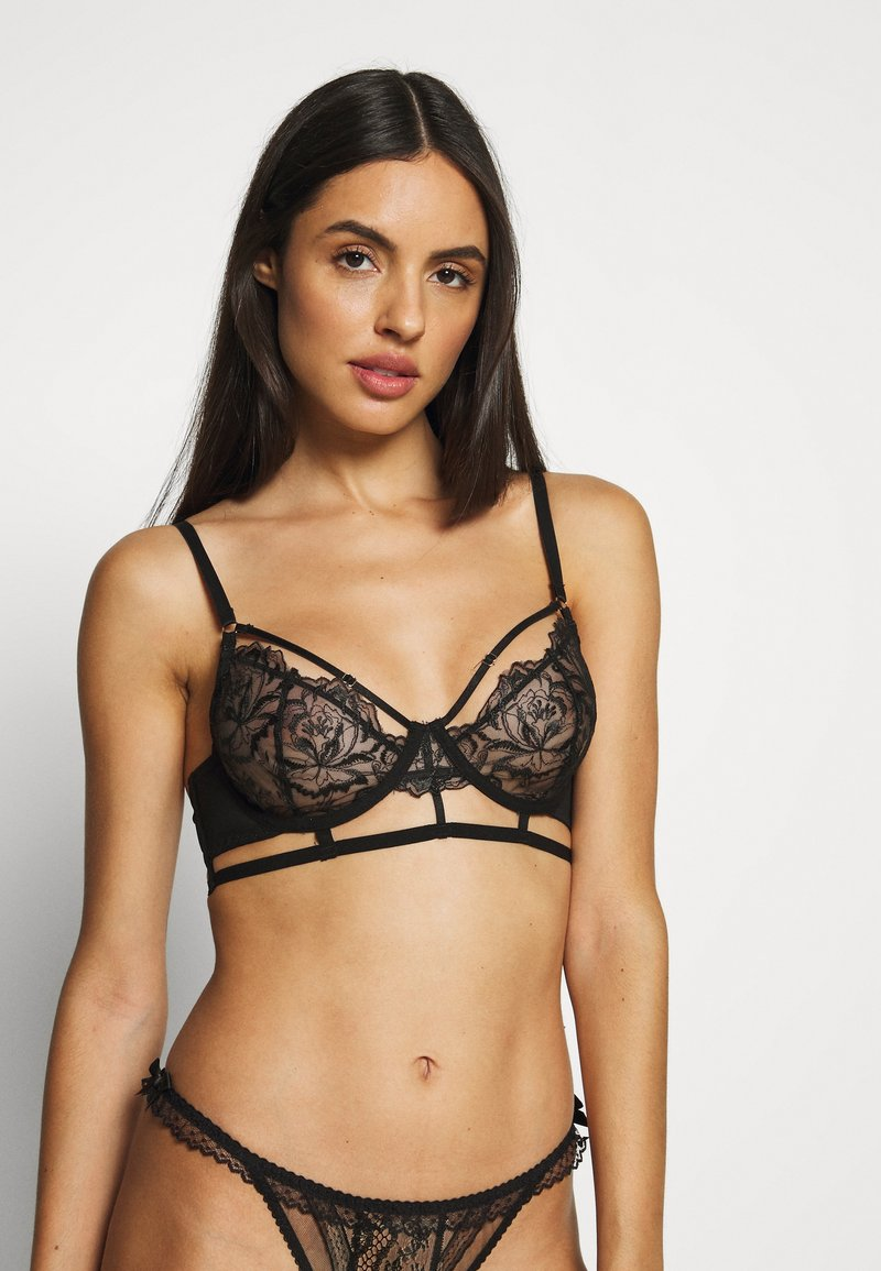 BlueBella - LALI BRA - Kaarituelliset rintaliivit - black