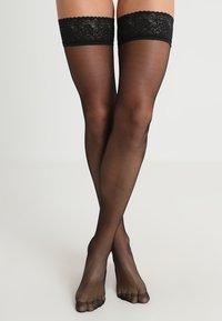 BlueBella - PLAIN LEG TOPPED HOLD UPS - Ylipolvensukat - black - 0