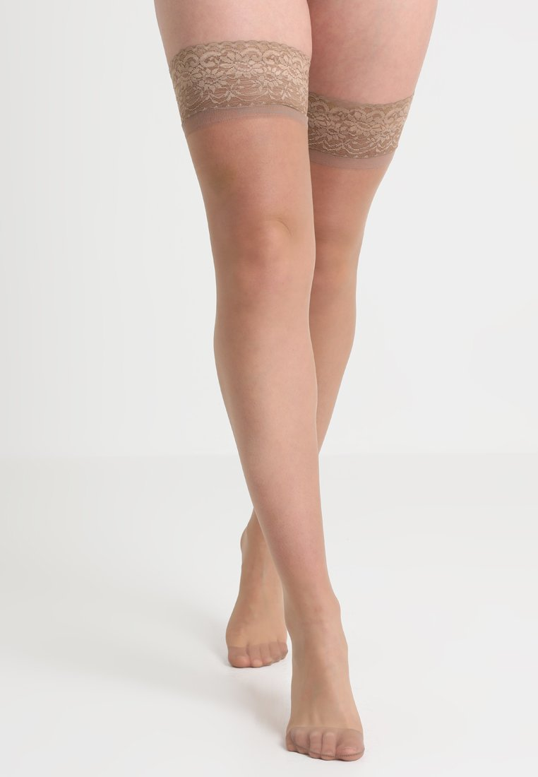 BlueBella - PLAIN LEG TOPPED HOLD UPS - Over-the-knee socks - nude