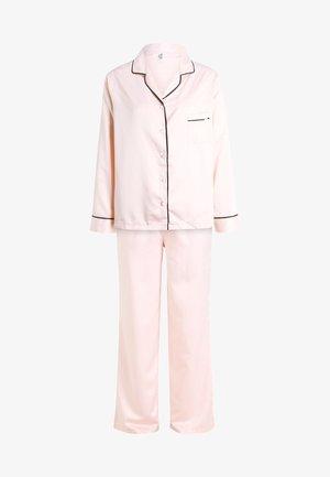 ABIGAIL SHIRT AND TROUSER SET - Pyžamová sada - pale pink/black