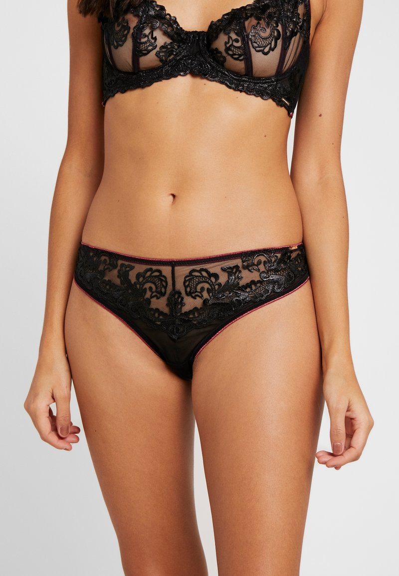 BlueBella - MARA BRIEF - Slip - black/cordovan