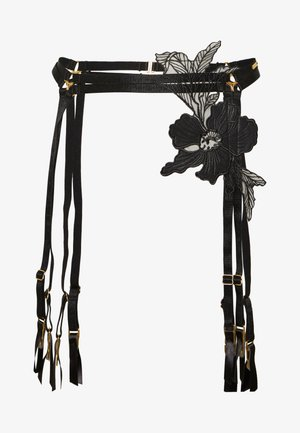 HADDESSA SUSPENDER - Jarretels - black