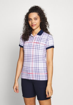 PERSONALITY - Polo shirt - barley pink/prussian blue/red