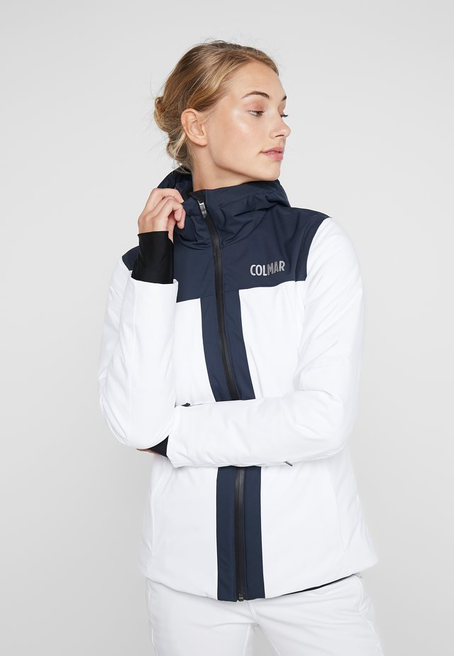 Skijacke - white/blue/black