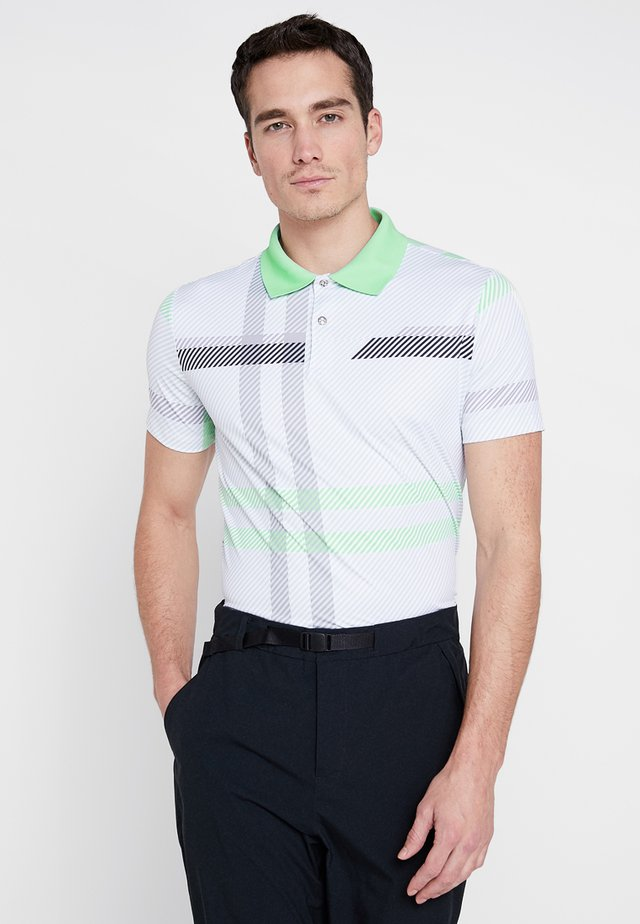 GLOWING - Poloshirt - white/opal/black