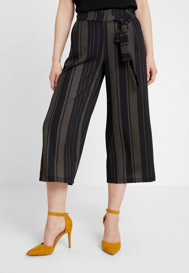 Pantalon classique - khaki/black