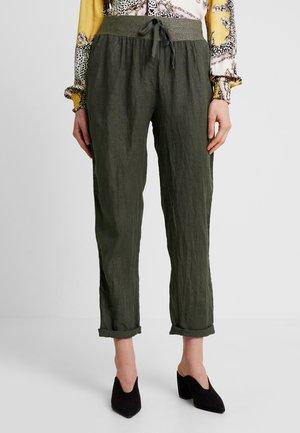 Spodnie materiałowe - gunmetal
