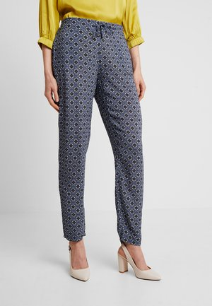 TILE PRINT PANTS - Broek - purple/khaki