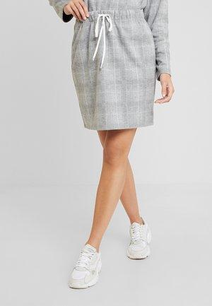 KURZ - Minifalda - grey/cream