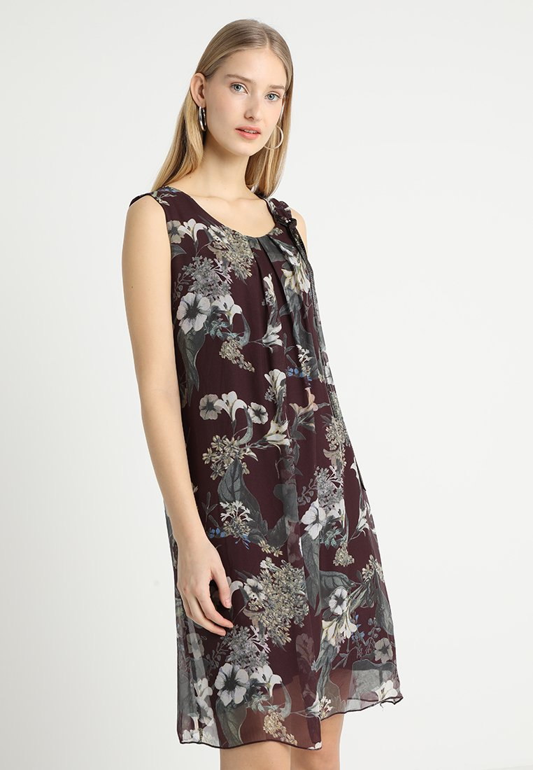 Cartoon - Freizeitkleid - dark red/beige