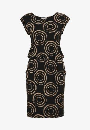 UNGEFÜTTERT KURZ - Jersey dress - black/camel