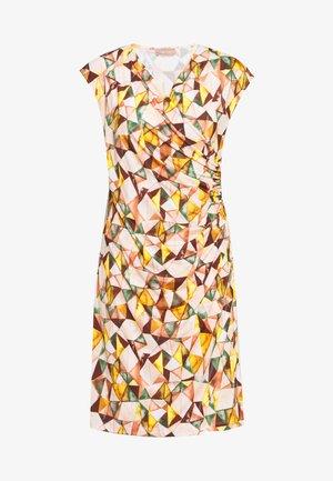 KURZ - Jersey dress - apricot/green