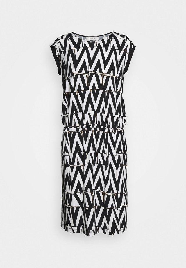 Žerzejové šaty - white/black