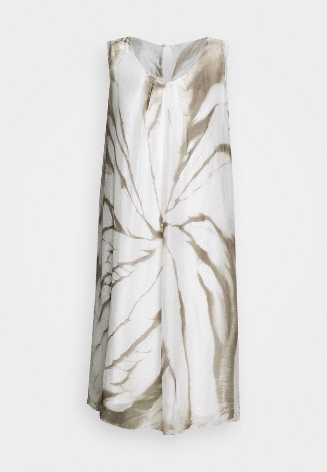 GEFÜTTERT KURZ - Korte jurk - white/khaki