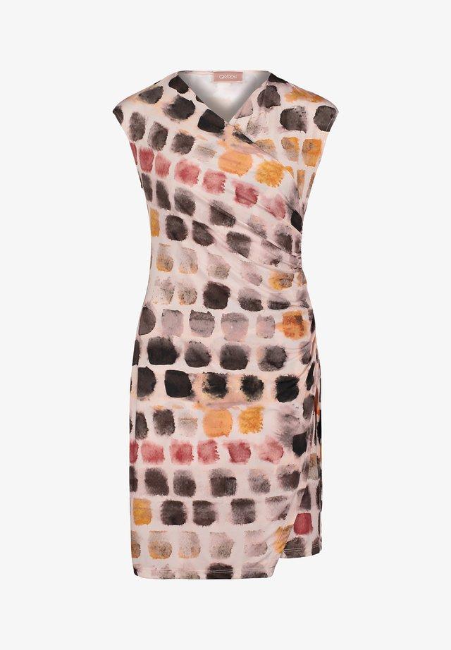 MIT V-AUSSCHNITT - Jersey dress - rosa/taupe