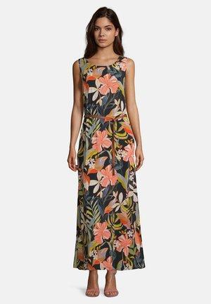Maxi dress - black/apricot