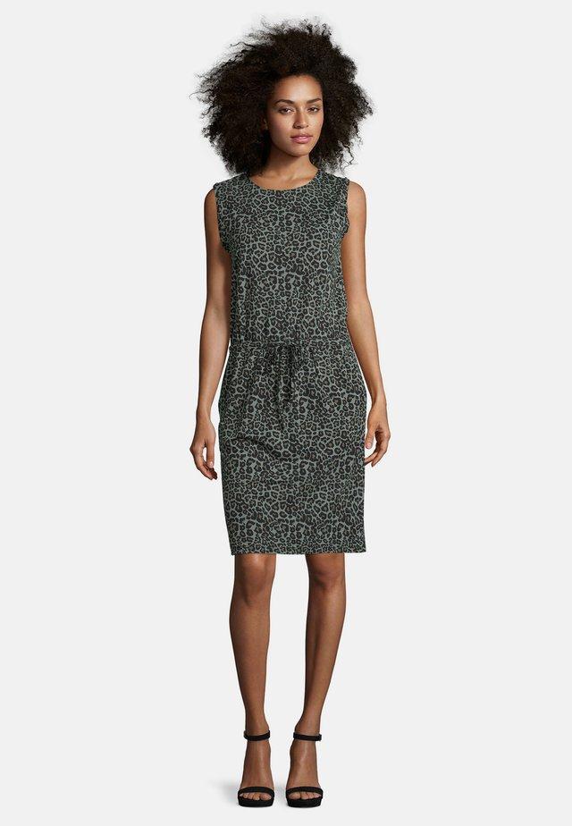 Jersey dress - grün/schwarz