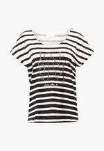 T-shirt imprimé - black/cream