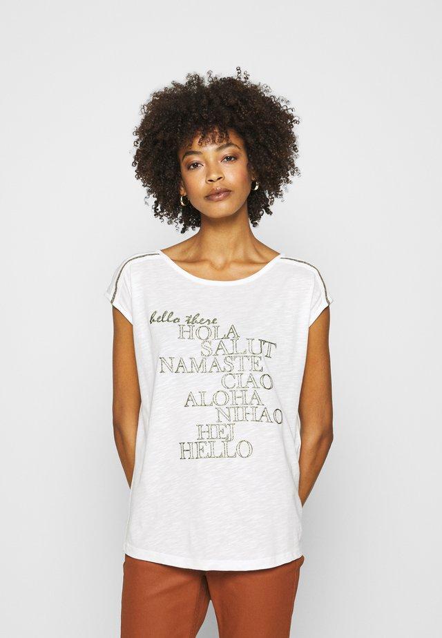 T-Shirt print - cream/khaki