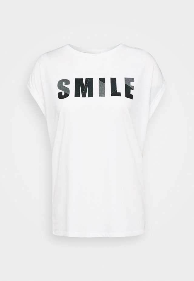 MASSTAB - Print T-shirt - white/silver