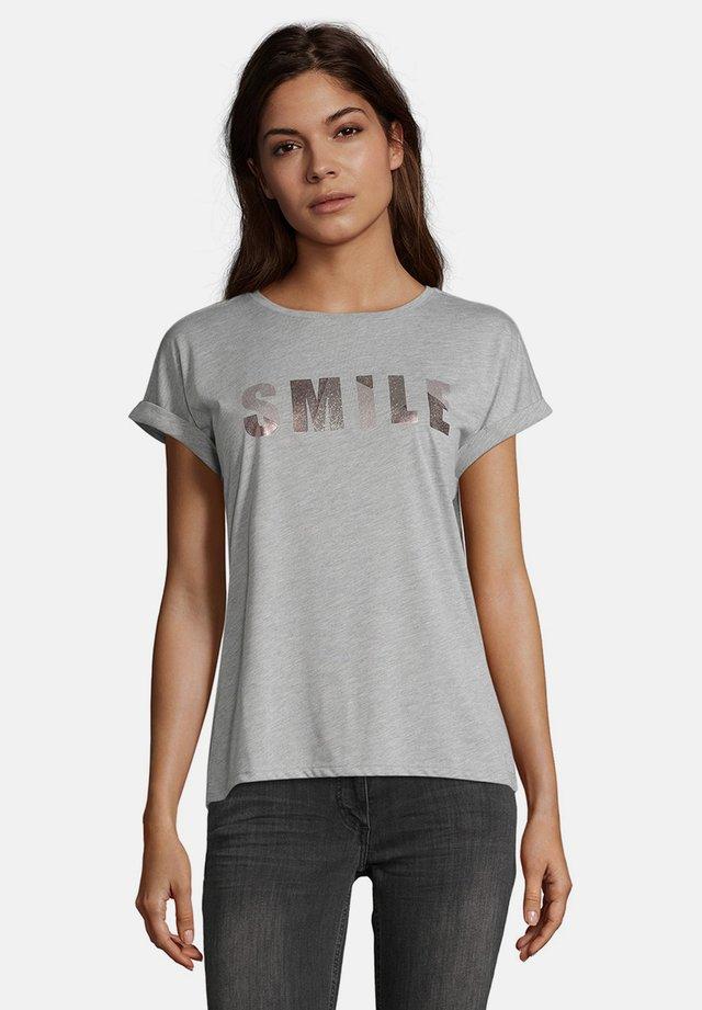 MASSTAB - Print T-shirt - grau/rosa