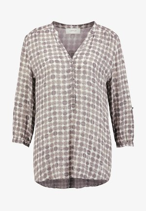 V NECK BLOUSE - Bluser - taupe/grey