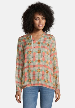 MIT MUSTER - Blouse - taupe/apricot