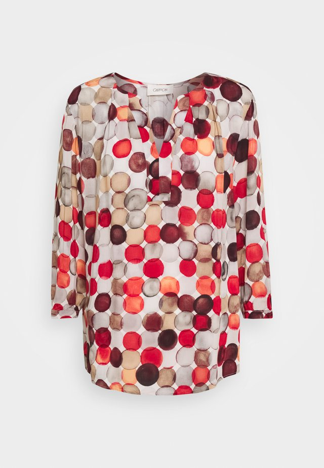 Blouse - nature/red