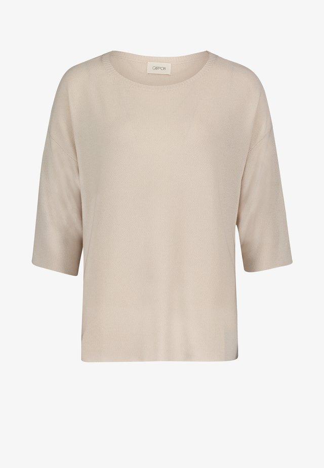 MIT STRUKTUR - Strickpullover - beige