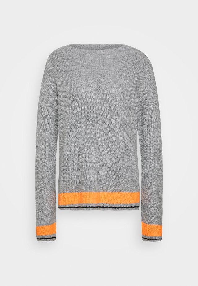 Trui - grey/orange