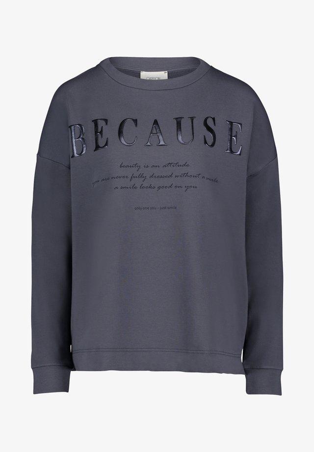 MIT AUFDRUCK - Sweatshirt - blue grey