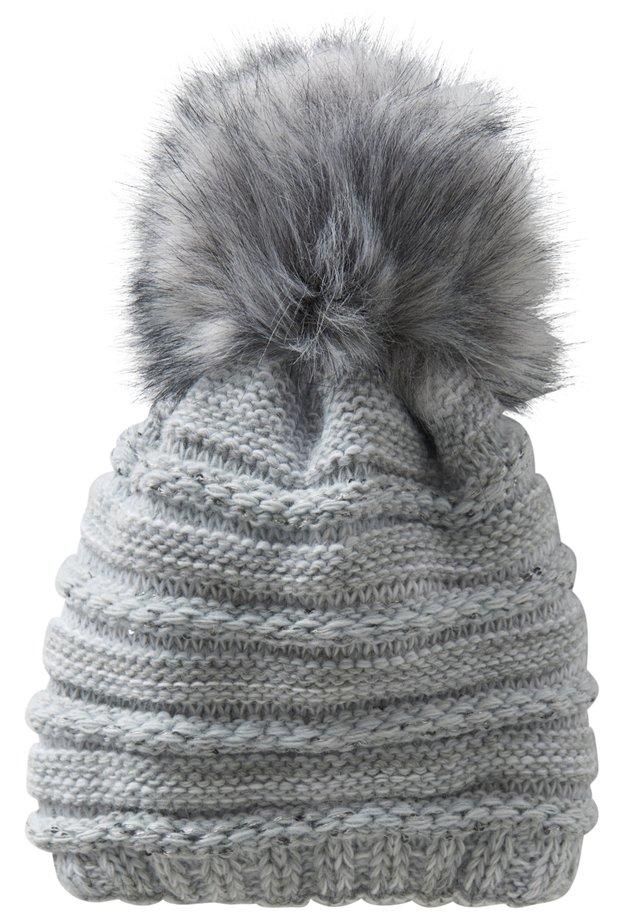 Mütze - grau/weiß