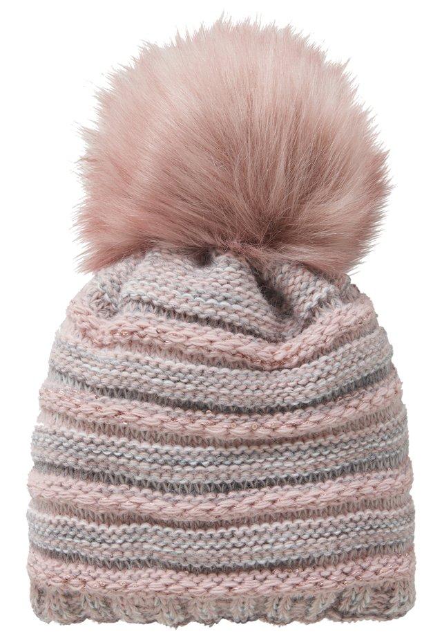 Mütze - rosé/grey
