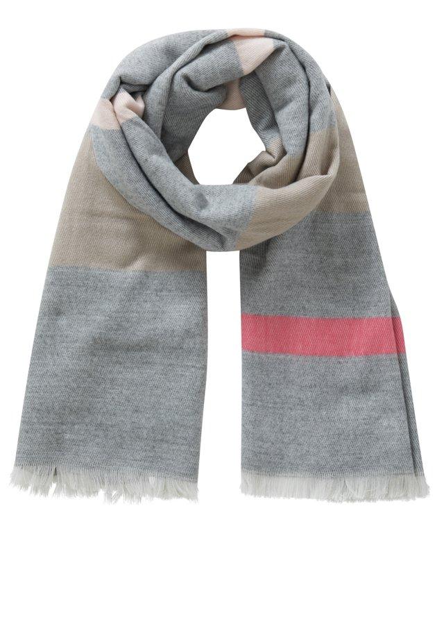 MIT STREIFEN - Schal - grau/weiß