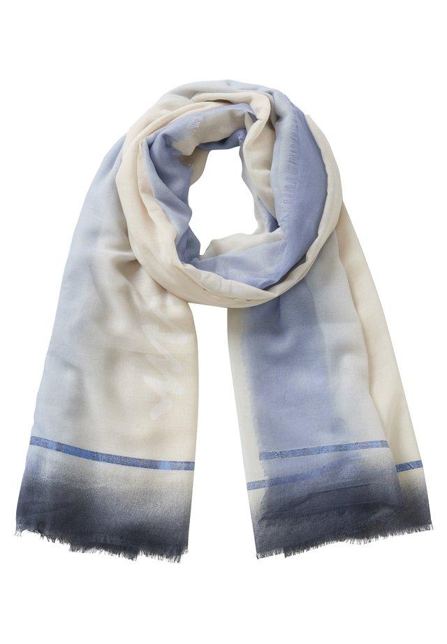 MIT AUFDRUCK - Schal - weiß/blau