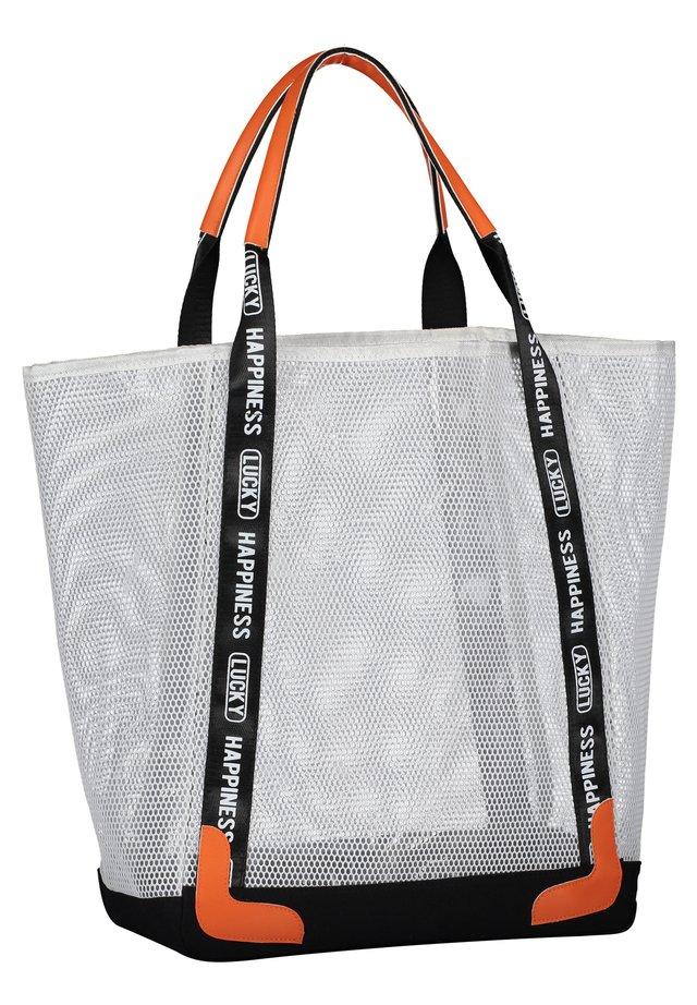MIT PRINT - Shopping Bag - weiß/schwarz