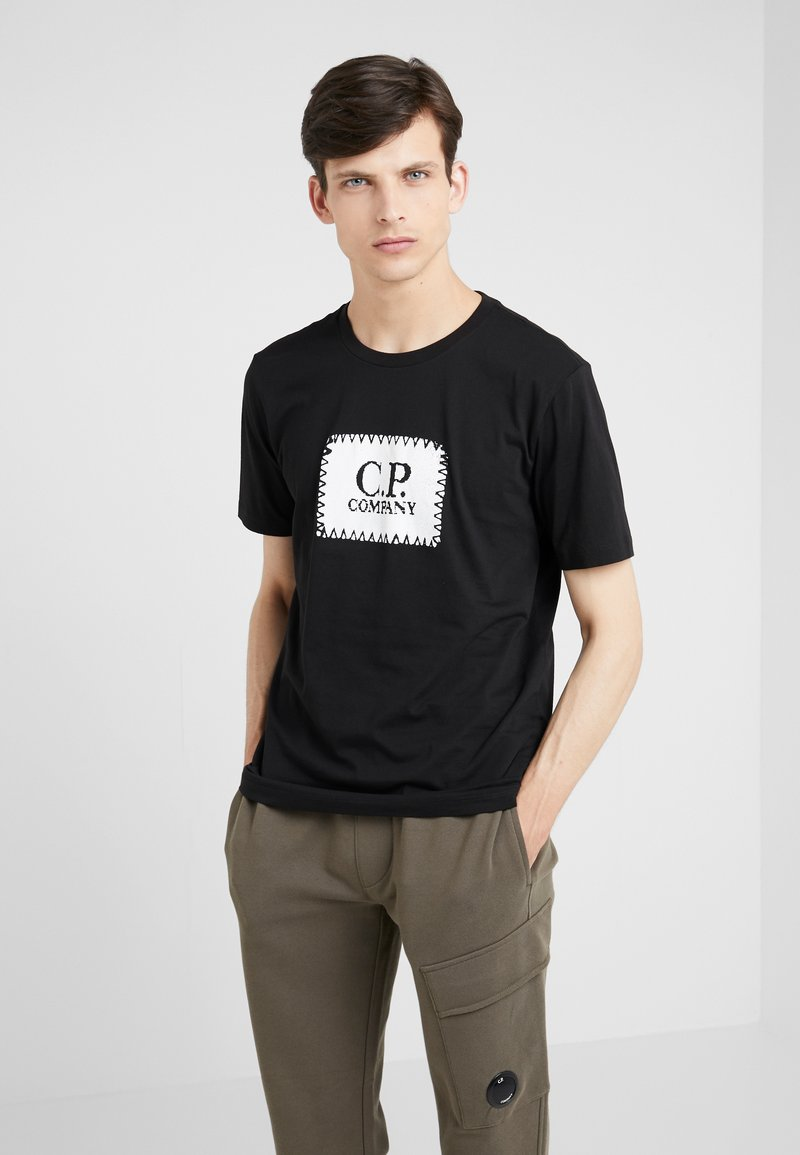 C.P. Company - LOGO SHORT SLEEVE - Printtipaita - black