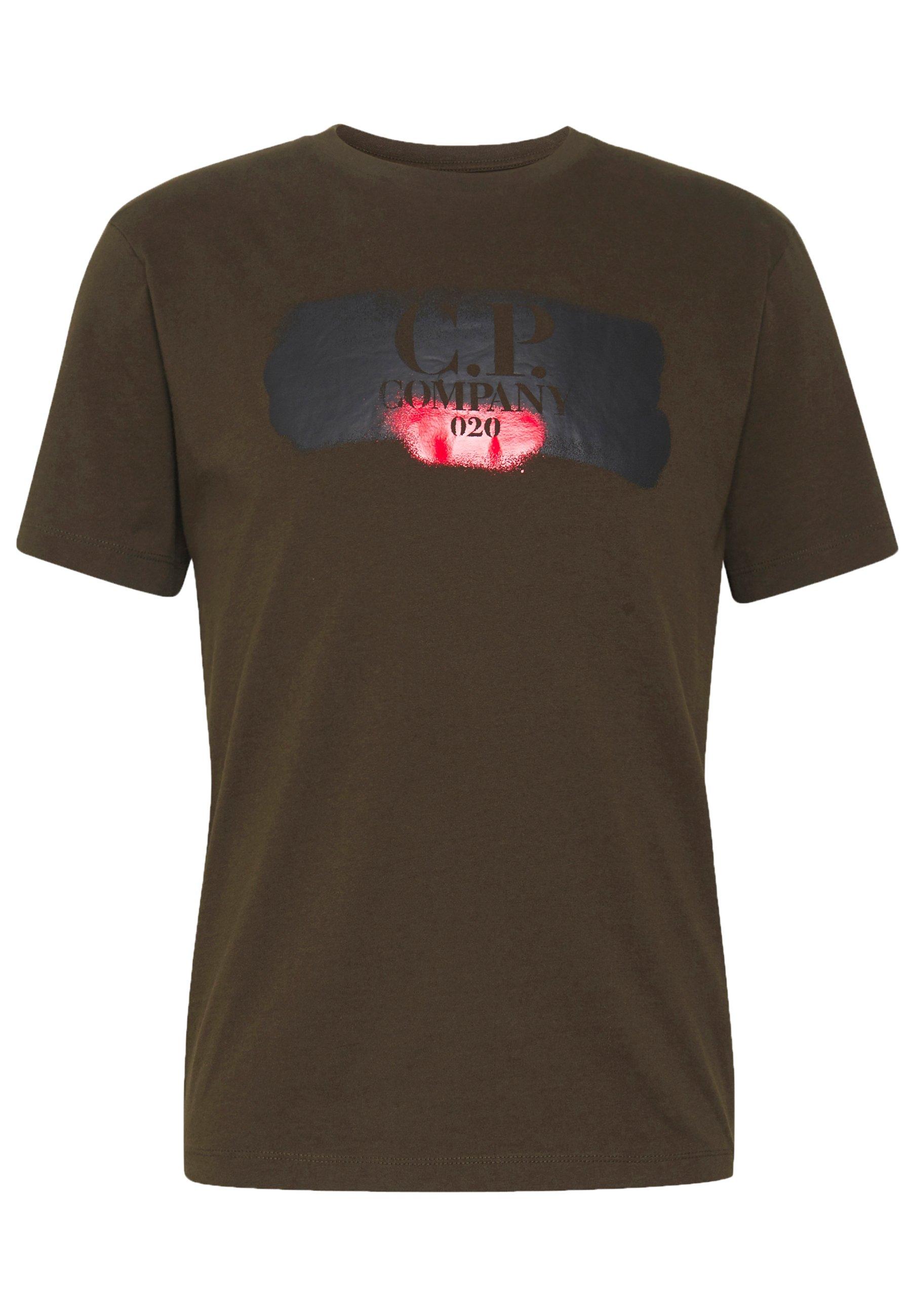 C.p. Company Logo T-shirt - Con Stampa Green wuebe