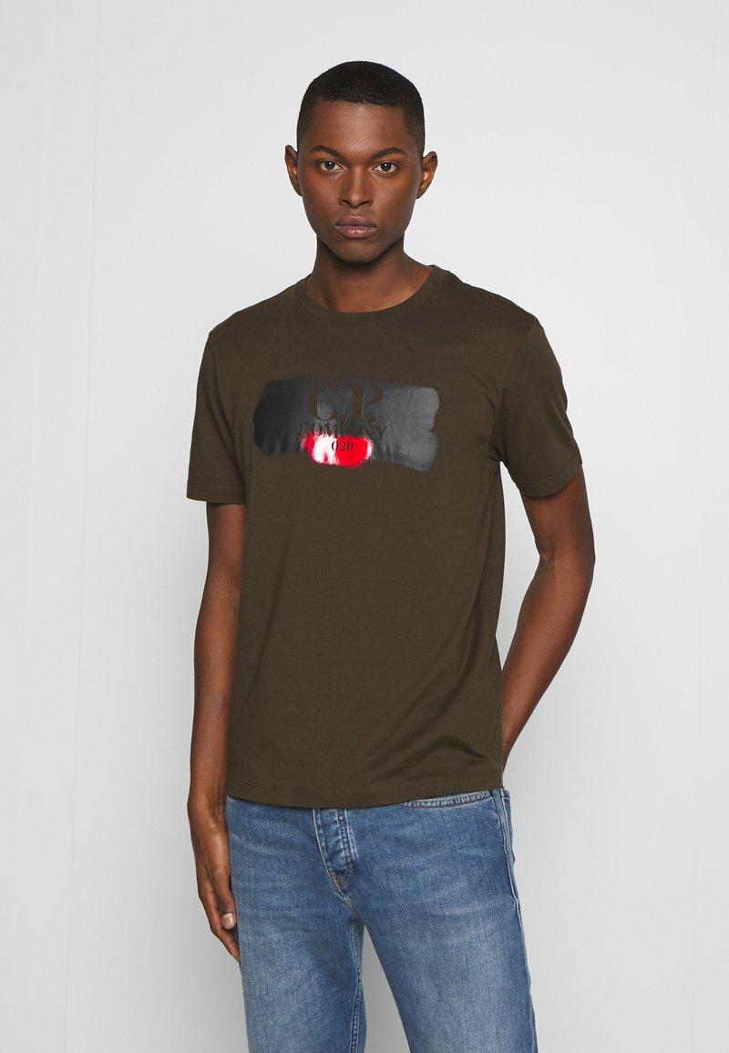 C.P. Company - LOGO T-SHIRT - Print T-shirt - green