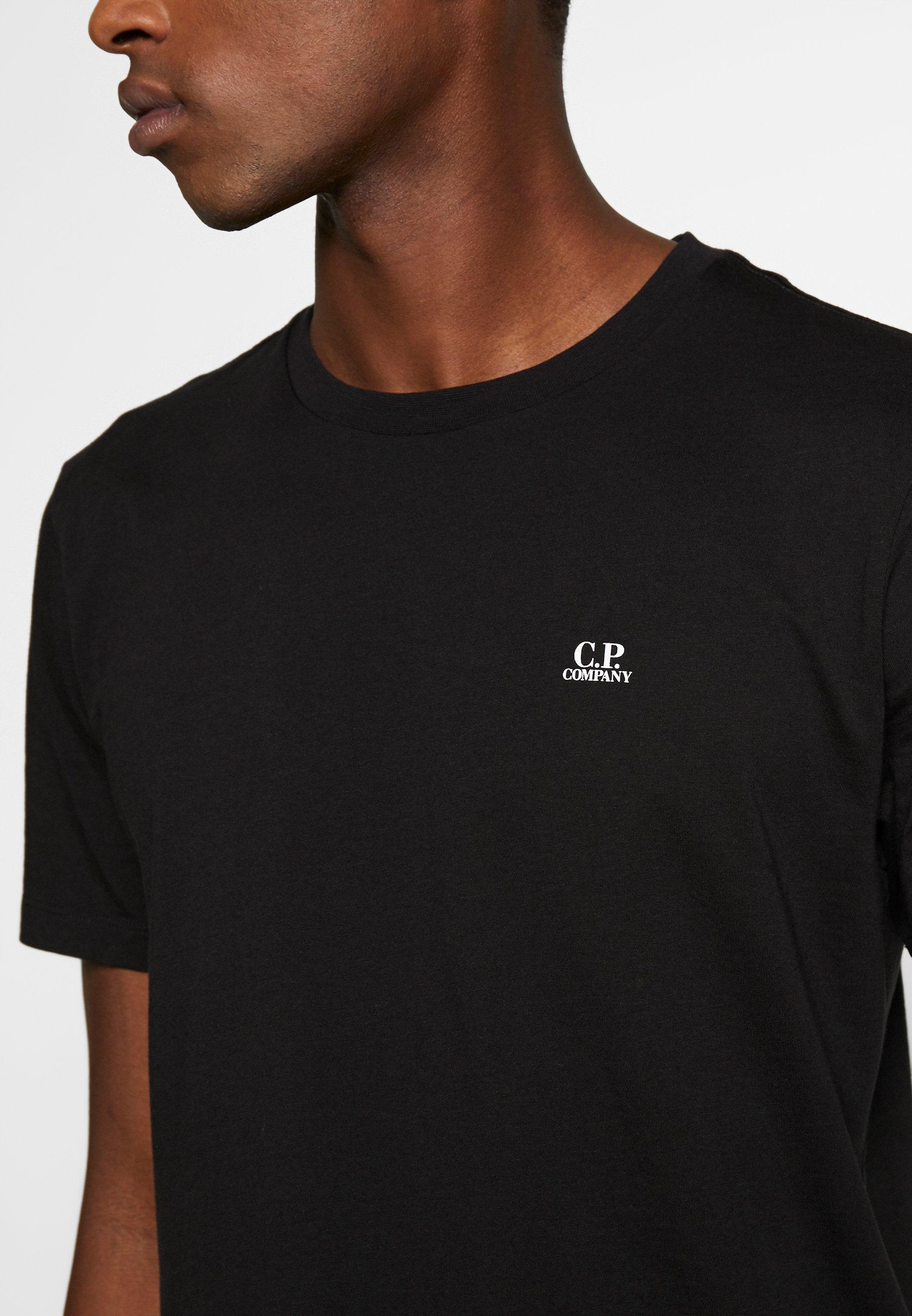 C.p. Company Small Logo - T-shirt Bas Black