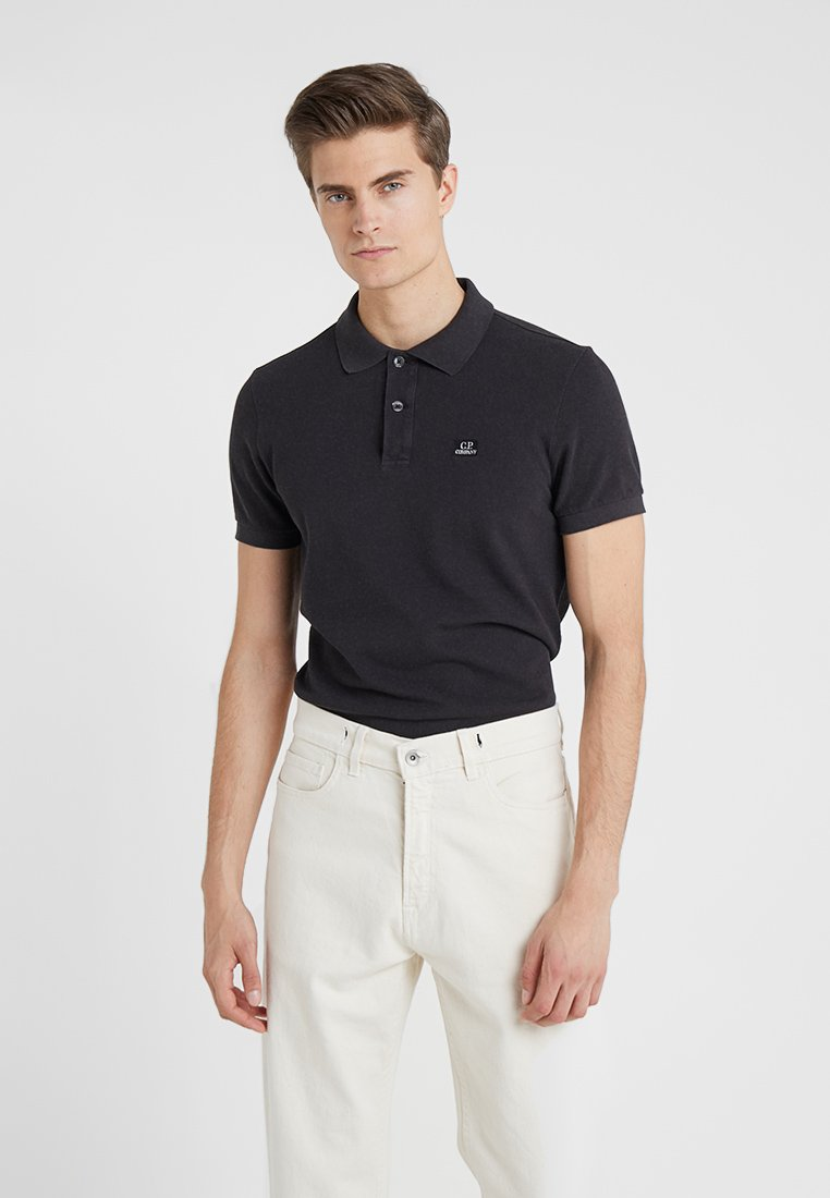 C.P. Company - PLAIN SLIM FIT - Polo shirt - black