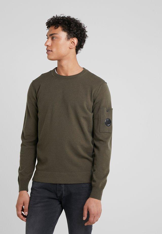 CREW NECK - Stickad tröja - olive