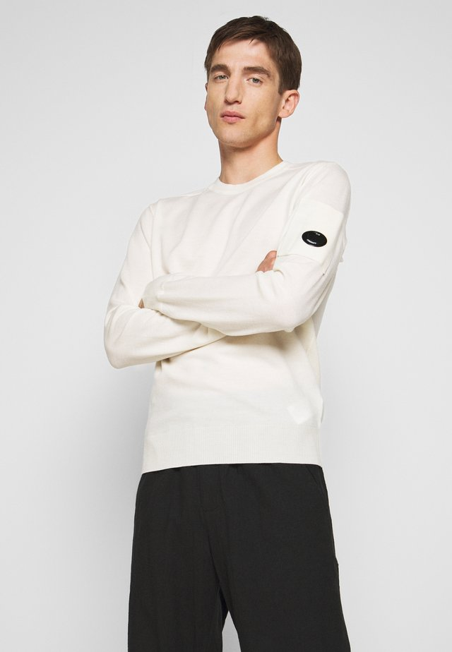 CREW NECK - Jumper - gauze white