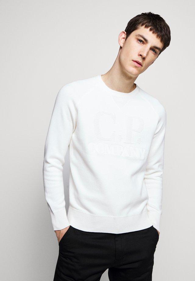 CREW NECK - Strickpullover - white