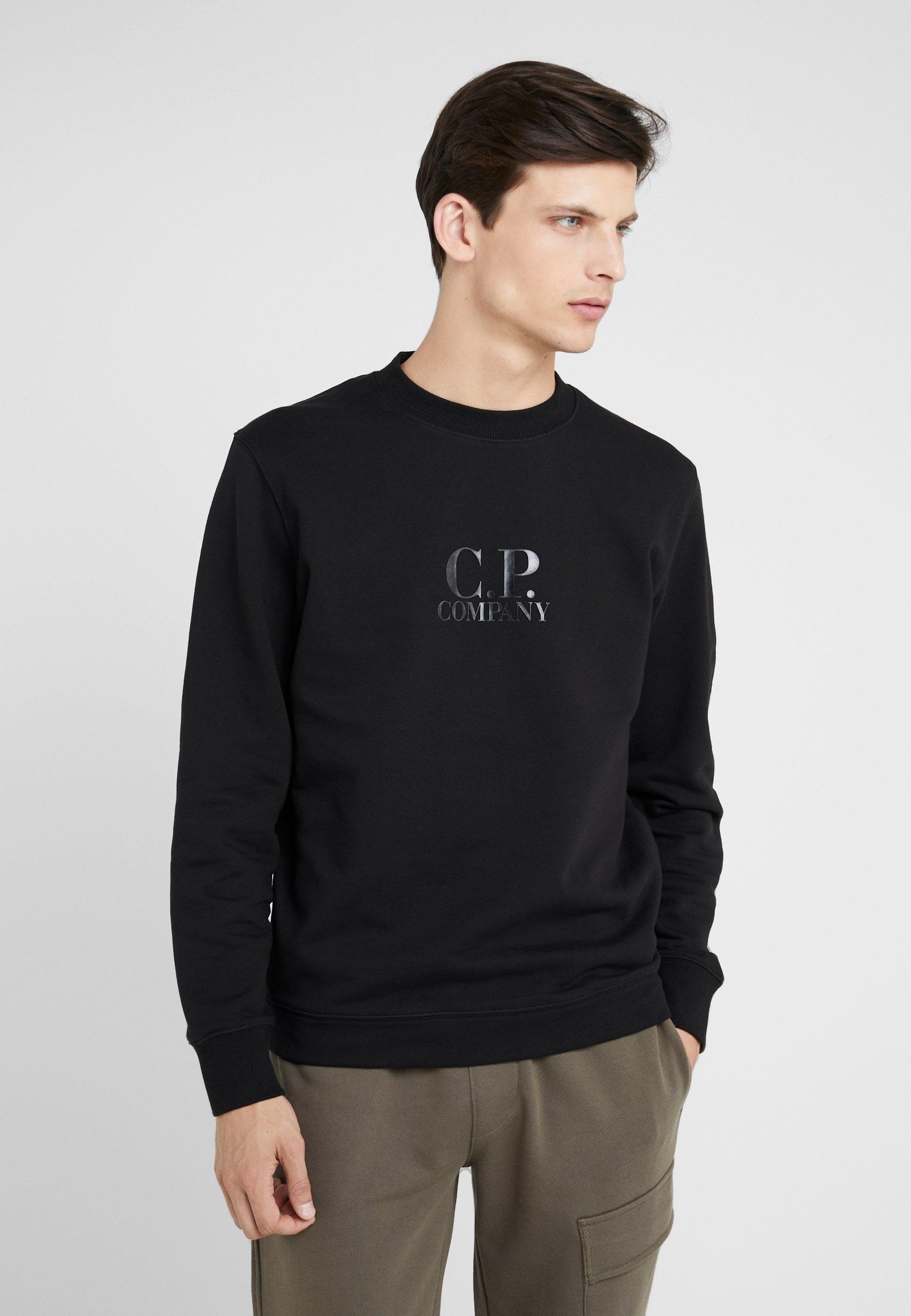 pCompany Crew RaisedSweatshirt C Neck Logo Diagonal Black wmNnv80O