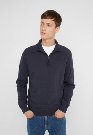 ZIP TURTLE NECK LIGHT  - Sweatshirt - navy