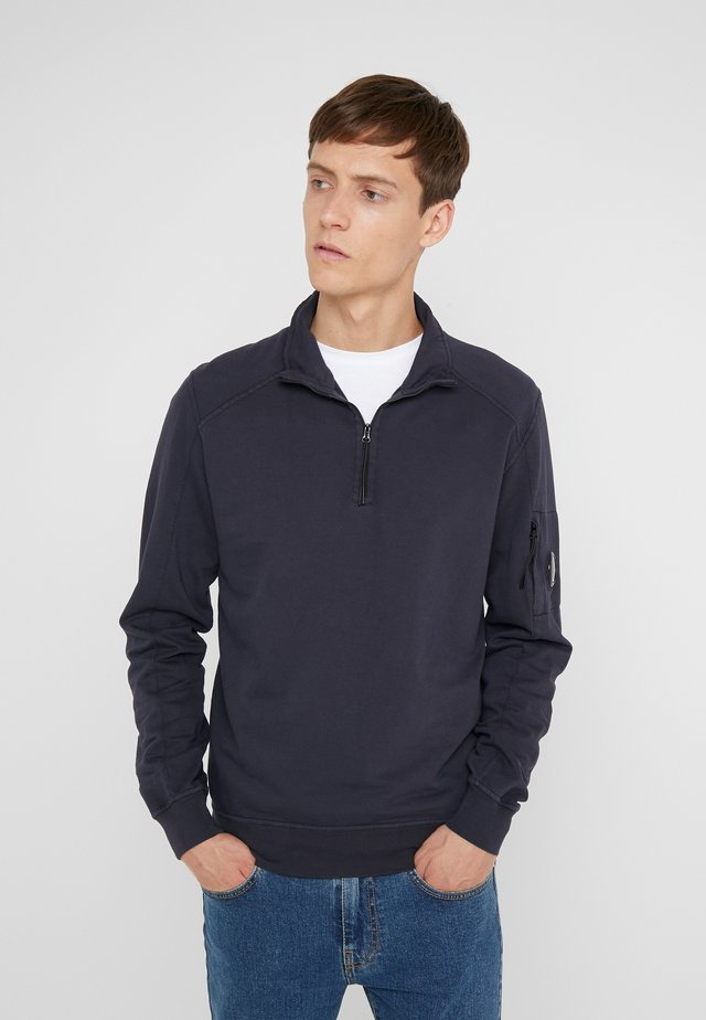 ZIP TURTLE NECK LIGHT  - Felpa - navy