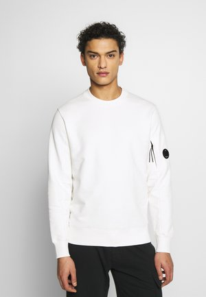 CREW NECK DIAGONAL - Sweatshirt - white